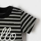 "Футболка Крошка Я ""Black&white"", серый/чёрный, р.30, рост 98-104 см - фото 105573722"