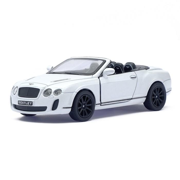 Машина металлическая Bentley Continental Supersports Convertible, 1:38, открываются двери, инерция, цвет белый - фото 105651557