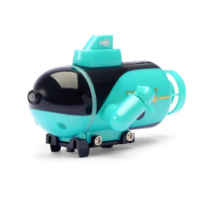 Подводная лодка радиоуправляемая «Батискаф», световые эффекты, цвета МИКС