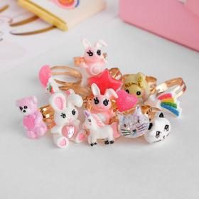 "Ring baby ""Assorted"" cute characters, form MIX, color, dimensionless"
