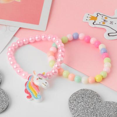 "A set of children's bracelets ""Vibracula"" 2pcs, unicorn, colored"