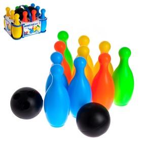 Set bowling: 10 bowling pins + 2 balls, MIX