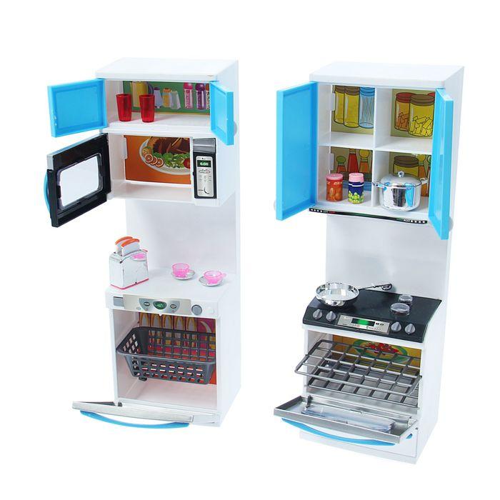 Кухня для кукол с аксессуарами, световые и звуковые эффекты