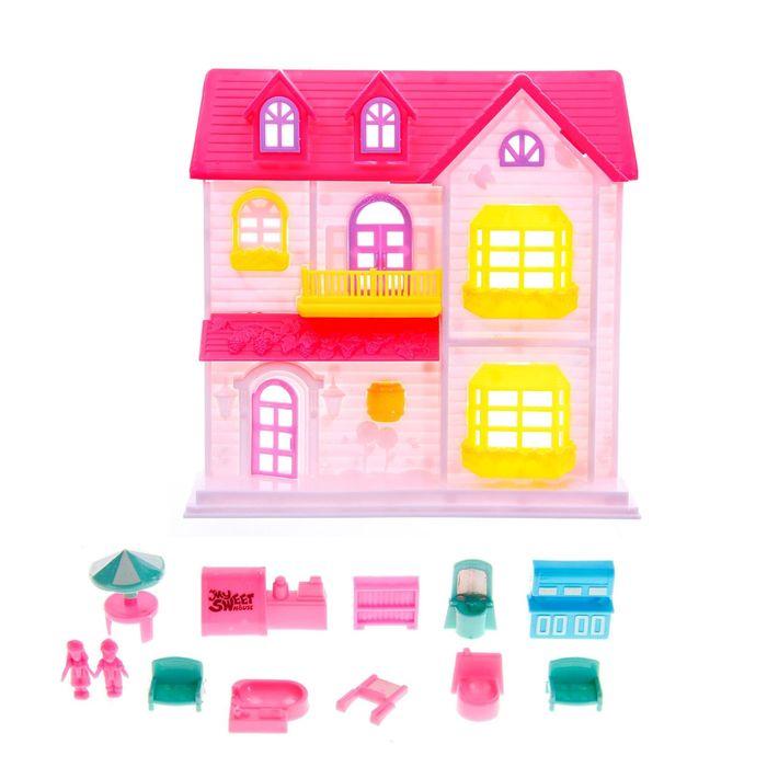 Дом для кукол с мебелью с фигурками, МИКС