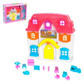 House for dolls with accessories, light and sound effects, the MIX