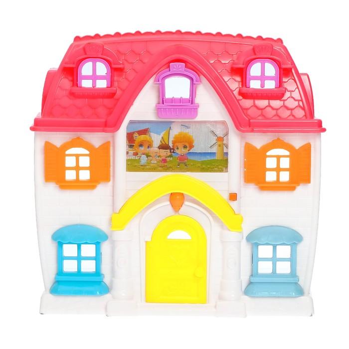 Дом для кукол, с мебелью, световые и звуковые эффекты, работает от батареек, цвета МИКС