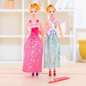 Куклы модели «Подружки» с аксессуарами, набор 2 шт., МИКС