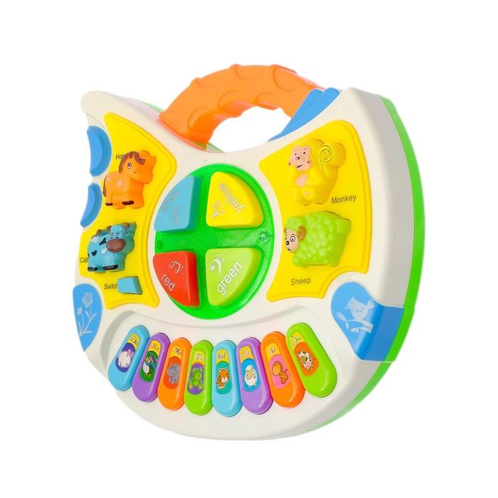 Музыкальная игрушка-пианино «Зоопарк» с развивающими элементами