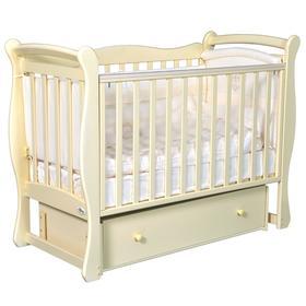 Детская кровать Oliver Viana, автостенка, универсальный маятник, ящик, цвет слоновая кость