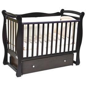 Детская кровать Oliver Viana, автостенка, универсальный маятник, ящик, цвет шоколад