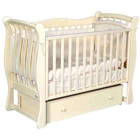 Детская кровать Oliver Viana Elegance, автостенка, универсальный маятник, ящик, цвет слоновая кость