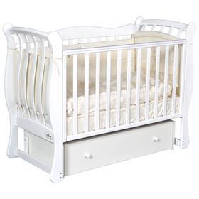 Детская кровать Oliver Viana Elegance, автостенка, универсальный маятник, ящик, цвет белый