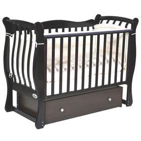 Детская кровать Oliver Viana Elegance, автостенка, универсальный маятник, ящик, цвет шоколад