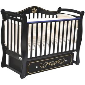 Детская кровать Oliver Daniella, автостенка, универсальный маятник, ящик, цвет шоколад
