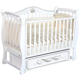 Детская кровать Oliver Daniella Elegance, универсальный маятник, ящик, цвет белый
