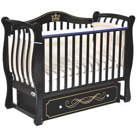 Детская кровать Oliver Daniella Elegance, универсальный маятник, ящик, цвет шоколад