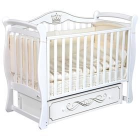 Детская кровать Oliver Florencia, универсальный маятник, ящик, цвет белый
