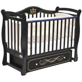 Детская кровать Oliver Florencia, универсальный маятник, ящик, цвет шоколад