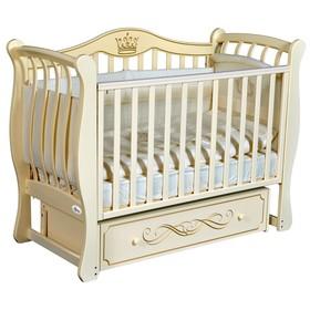 Детская кровать Oliver Florencia Elegance, универсальный маятник, ящик, цвет слоновая кость