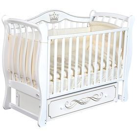 Детская кровать Oliver Florencia Elegance, универсальный маятник, ящик, цвет белый
