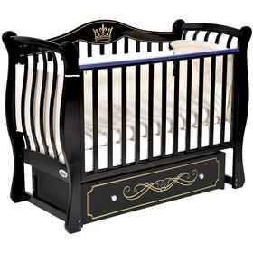 Детская кровать Oliver Florencia Elegance, универсальный маятник, ящик, цвет шоколад