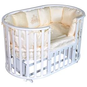 Детская кровать Oliver Gabriella 6 в 1, универсальный маятник, колесо, цвет белый