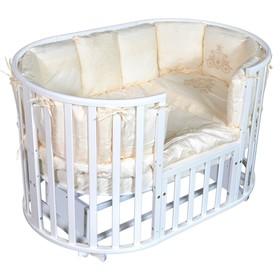 Детская кровать Oliver Gabriella Plus 6 в 1, универсальный маятник, цвет белый