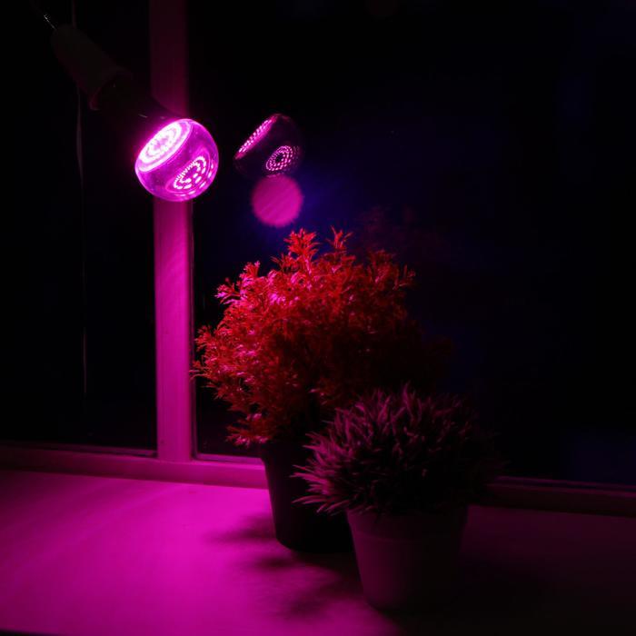 Лампа светодиодная для растений Uniel, А60, 15 Вт, Е 27, спектр для рассады и цветения