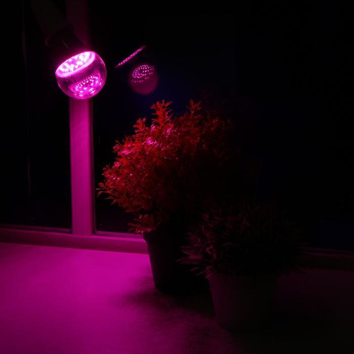 Лампа светодиодная для растений Uniel, А60, Е27, 8 Вт, спектр для рассады и цветения