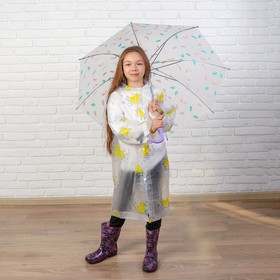 Дождевик детский «Уточки» 90×50 см
