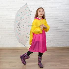 Дождевик детский «Весёлые зверушки» с карманом под рюкзак, XL, МИКС