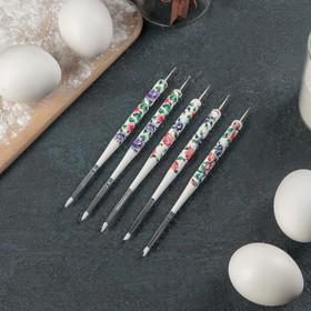 Набор кондитерских кисточек для декорирования «Цветочный узор», 5 шт