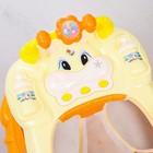 Ходунки «Весёлые друзья», 6 больш. колес, муз. игрушки, оранжевый - фото 961177
