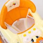 Ходунки «Весёлые друзья», 6 больш. колес, муз. игрушки, оранжевый - фото 961178