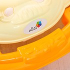 Ходунки «Весёлые друзья», 6 больш. колес, муз. игрушки, оранжевый - фото 961181