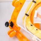 Ходунки «Весёлые друзья», 6 больш. колес, муз. игрушки, оранжевый - фото 961182