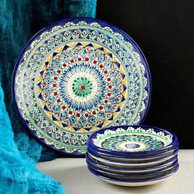 Набор для блинов Риштан, 7 предметов: тарелка 25см, 6 тарелок 15см
