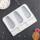 """Форма для леденцов и мороженого 19,5×14,5×2,5 см """"Эскимо в галзури"""", 3 ячейки (5×9 см), цвет МИКС"""