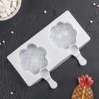 """Форма для леденцов и мороженого 2 ячейки 18,5x13x2,4 см """"Улыбка"""", цвет МИКС"""