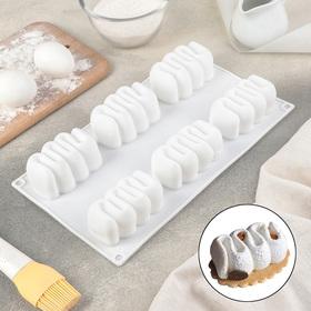 {{photo.Alt || photo.Description || 'Форма для муссовых десертов и выпечки Доляна «Ванилла», 29,5×17 см, цвет белый'}}