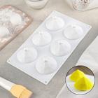Форма для муссовых десертов и выпечки 29,2×16,2 см «Бриллиант», цвет белый