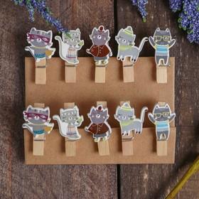 """Clothespins decorative """"Cats"""" set of 10 PCs"""