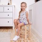"""Майка для девочки KAFTAN """"Happy"""" р.34 (122-128), серый - фото 105706727"""