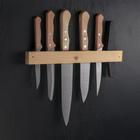 Набор ножей «Для мясника», 5 шт, на деревянном держателе
