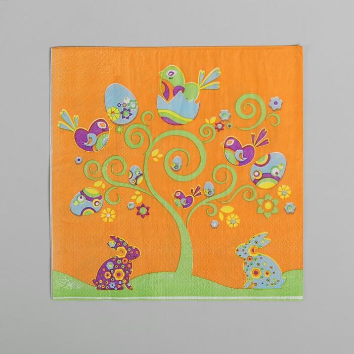 Салфетки бумажные «Пасхальная картина», 33х33 см, набор 20 шт.
