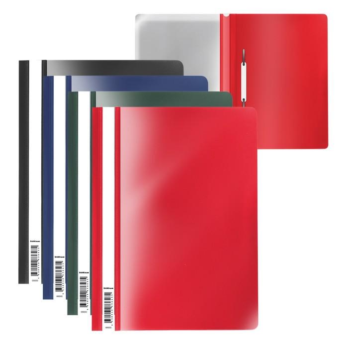 Папка-скоросшиватель А4, пластиковая, ErichKrause, Fizzy Classic, микс