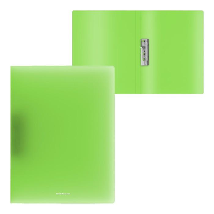 Папка с боковым зажимом А4, ErichKrause Neon, зелёная
