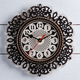 """Часы, 24×24 см, """"Завитушки"""" МИКС"""