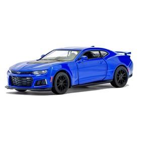 Машина металлическая Chevrolet Camaro ZL1, 1:38, открываются двери, инерция, цвет синий