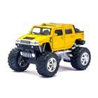Машина металлическая Hummer H2 SUT (Off Road), 1:40, открываются двери, инерция, цвет жёлтый - фото 105651619